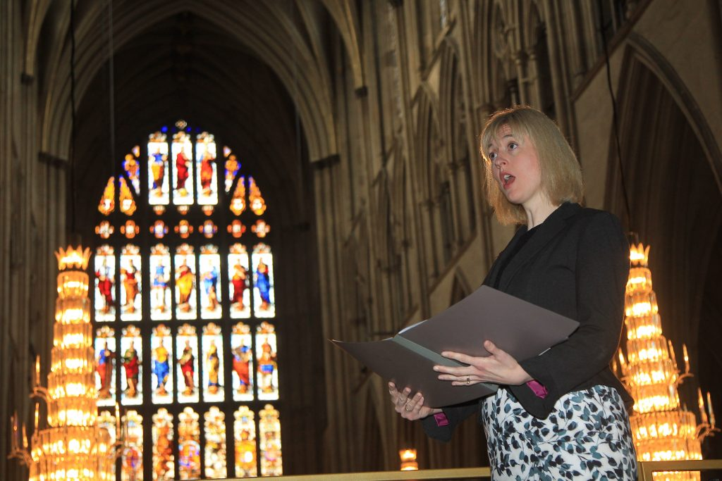 Christina Birchall-Sampson soprano sings at Westminster Abbey